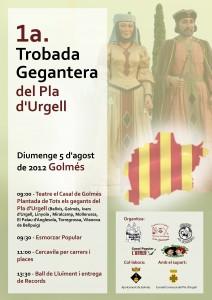 Cartell 1era Trobada Gegantera del Pla d'Urgell