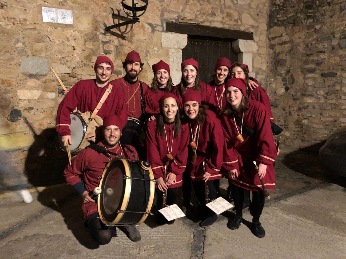 Els Grallers de l'Espluga animen la Setmana Medieval de Montblanc