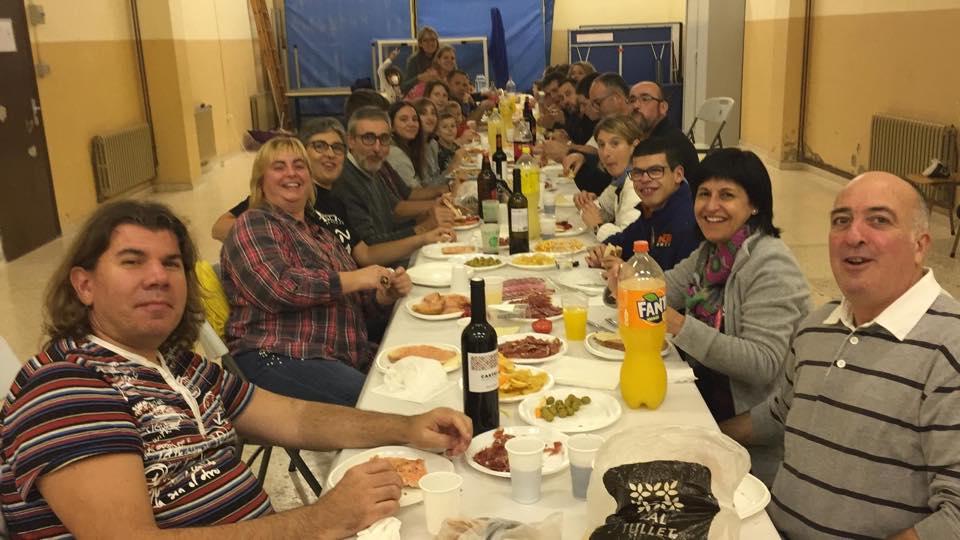 Els Geganters de l'Espluga tanquen temporada amb un sopar de germanor