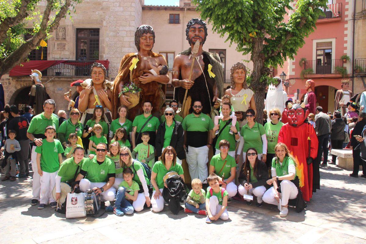 Els Gegants i Grallers de l'Espluga participen a Montblanc als 25 anys dels Amics dels Gegants