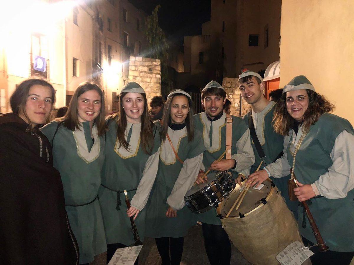 Els Grallers de l'Espluga actuen a la Bevenda dels Portals de la Setmana Medieval