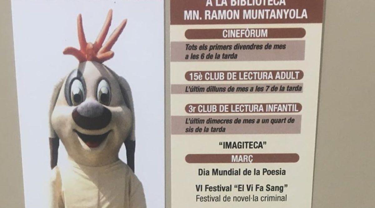 La Biblioteca de l'Espluga edita un punt de llibre dedicat al capgròs del Rovelló