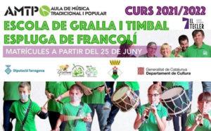 Inscripcions obertes a l'Escola de Gralla i Timbal de l'Espluga de Francolí