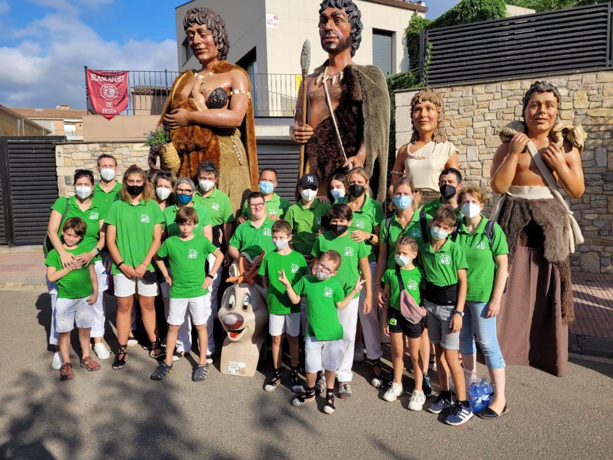 Els Gegants Neolítics i el Rovelló, de nou de trobada gegantera a Blancafort