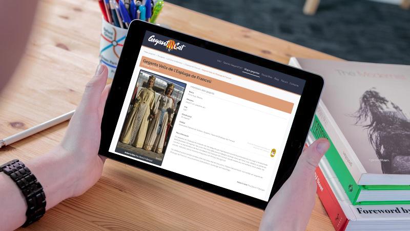 Els gegants de l'Espluga s'incorporen a les fitxes del web GegantCat