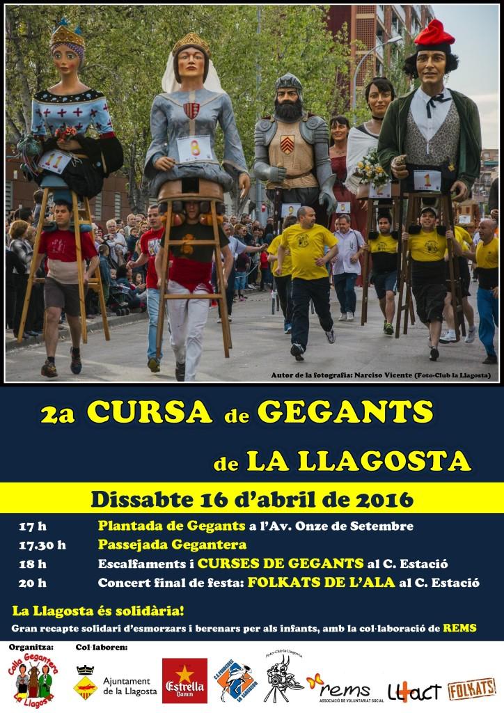 Cartell 2a Cursa de Gegants la Llagosta 2016