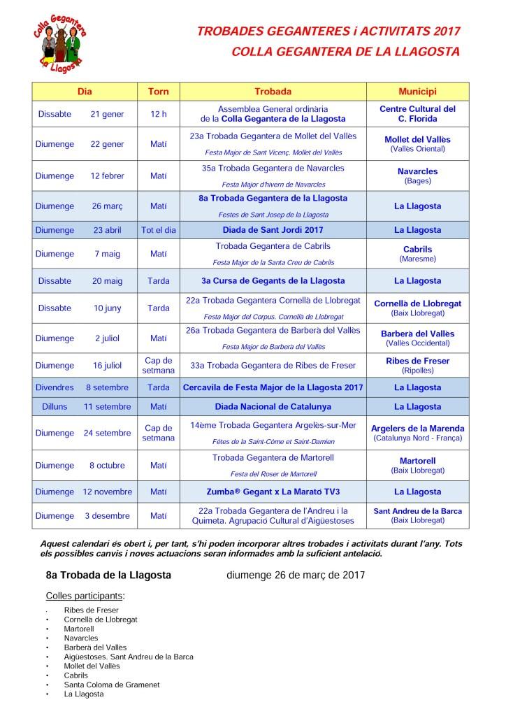 CG Calendari 2017
