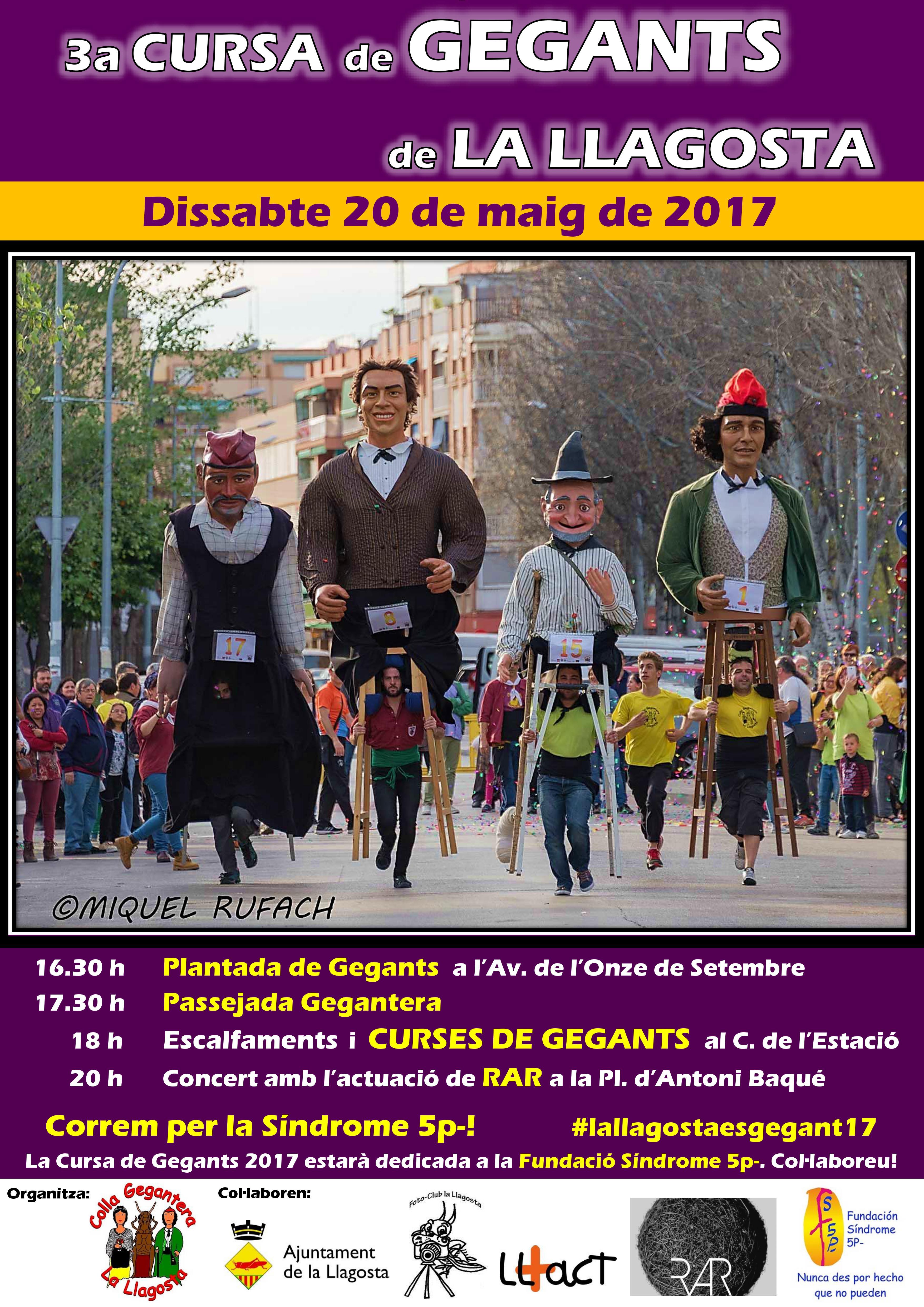 Cartell 3a Cursa de Gegants la Llagosta 2017 v3
