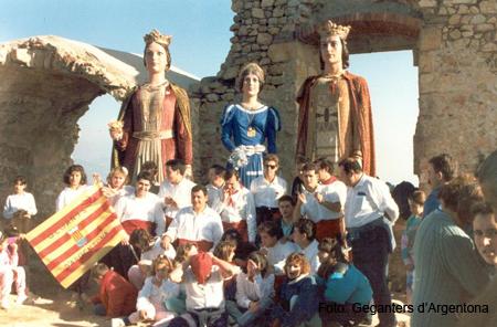Pujada a Burriac el 1988
