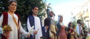 Treball i na Cultura a Mataró l'any 2006 acompanyats de la Família Rubafaves i els Gegants d'Iluro (amfitrions de la trobada)