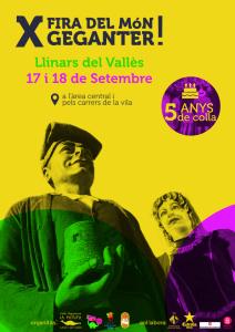 Cartell de la Fira del Món Geganter de Llinars del Vallès. 2016